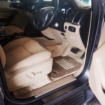 Coozo 7D Car Mats For Hyundai Eon (Beige)