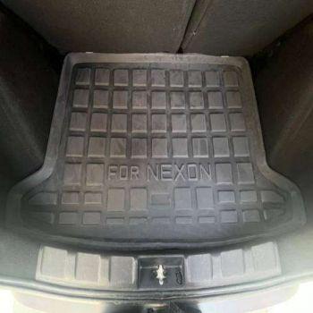 Rubber Trunk Boot Mats For Tata Nexon EV (Black)