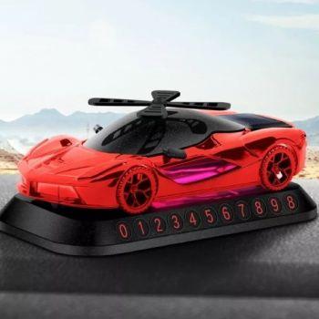 Coozo Solar Ferrari Car Perfume Air Freshener : Red