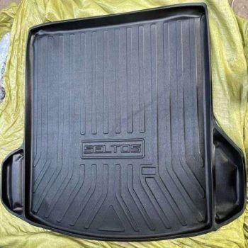 Rubber Trunk Boot Mats For Kia Seltos (Black)