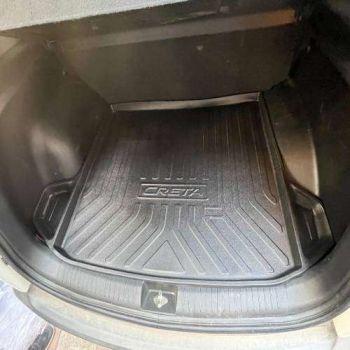 Rubber Trunk Boot Mats For Hyundai Alcazar 6 Seater (Black)