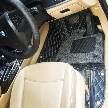 Coozo 7D Car Mats For Hyundai Santro 2018-2020 (Black)