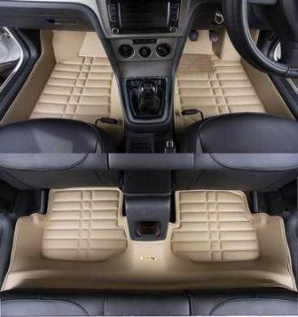 Coozo Yaka Series Car Mats For Hyundai I10 Grande (Beige)
